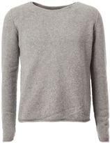 The Elder Statesman raw round neckline sweater