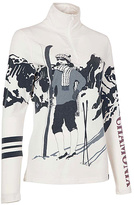 Neve White & Gray Skier Silk-Blend Sweater