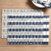 Set of 4 Natalya Ikat Stripe Placemats Gray – Ballard Designs