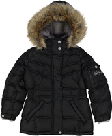 Weatherproof Black Pocket Faux-Fur Trim Hooded Puffer Coat - Toddler & Girls