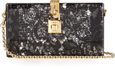 Dolce & Gabbana Lace plexiglass clutch