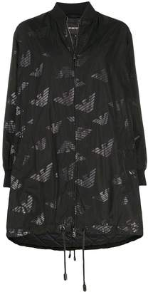 Emporio Armani oversized all-over logo coat
