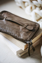 Free People Womens DISTRESSED TRAVEL WALLET