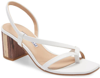 Charles David Clay Leather Sandal