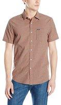 Volcom Men's Everett Minichk Short Sleeve Woven Shirt