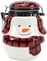 Boston Warehouse Buffalo Plaid Snowman Hinged Jar