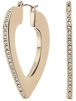 GUESS Bold Heart Small Hoops Earrings (Gold 1) Earring