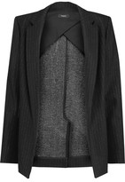 Theory Sedeia Pinstriped Wool And Cotton-Blend Blazer