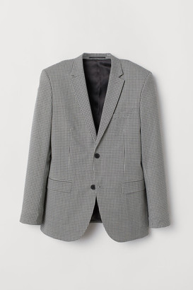 H&M Checked wool jacket Slim Fit