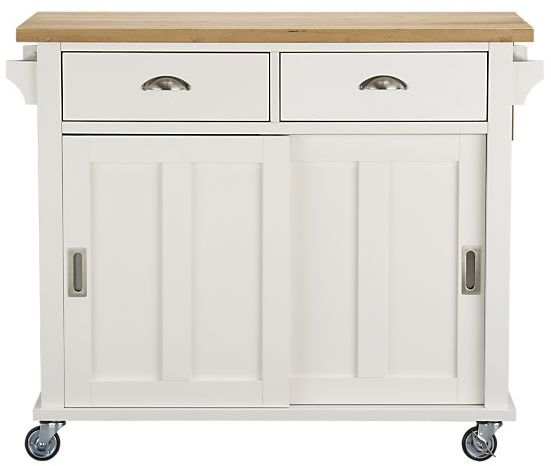 Crate & Barrel Belmont White Kitchen Island