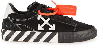 Off-White Low Vulcanized Black Suede Sneakers
