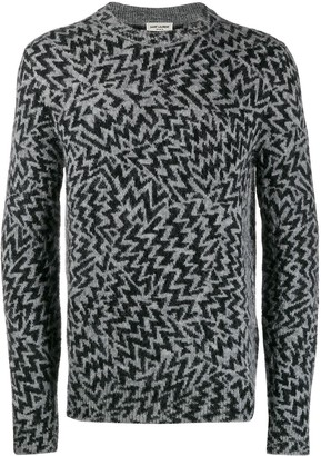 Saint Laurent Comics jacquard jumper