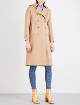 Sandro Double-breasted woven trench coat
