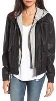 Blank NYC BLANKNYC Layered Faux Leather Flight Jacket