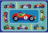 Fun Rugs Olive Kids Vroom Car Blue Area Rug Rug