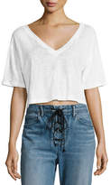 A.L.C. Connor Cropped Boxy Linen Tee
