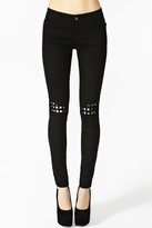 Nasty Gal Ripped Stud Skinny Jeans