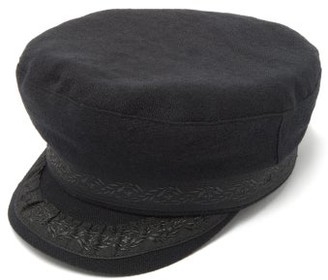 Ann Demeulemeester Ribbon-trim Wool-blend Mariners Cap - Black