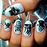 Nail Decals, Tenworld 4x100CM Punk Rock Design Nail Art Stickers Transfer Nail Manicure Tips (B)