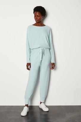 Karen Millen Knit Soft Yarn Cuffed Joggers
