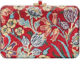 Judith Leiber Couture Slim Slide Floral Filigree Clutch Bag