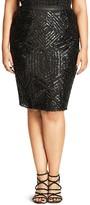 City Chic Geo Sequin Skirt