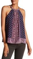 Joie Halter Scoop Neck Print Silk Tank Top