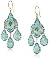 Miguel Ases Prehnite Hydro-Quartz Small Chandelier Drop Earrings