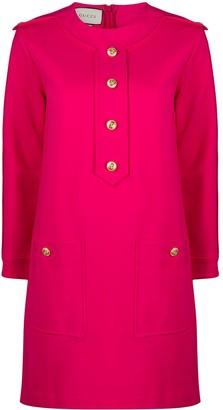 Gucci Button-Embellished Shift Dress