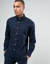 Esprit Regular Fit Long Sleeve Shirt in Cotton Twill
