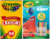 Crayola Finding Dory Activity Book & 48-Ct. Crayon Set