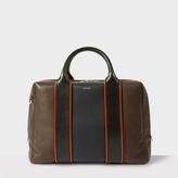 Paul Smith Men's Brown And Navy Lamb Leather Business Folio