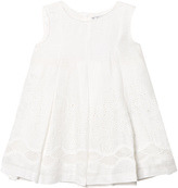 Mayoral Cream Eyelet Linen Dress