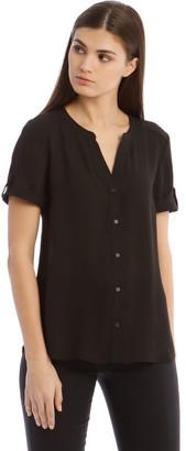 Basque Button Grown Sleeve Shirt