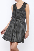 Babel Fair Silver Pleated Dress