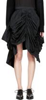 Yohji Yamamoto Black Gathered Skirt