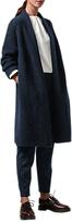Toast Knitted Tweed Coat, Deep Indigo