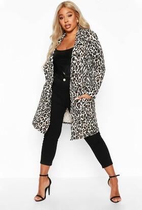boohoo Plus Leopard Print Duster