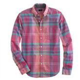 J.Crew Tall Indian cotton shirt in flash pink plaid