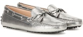 Tod's Heaven Laccetto Metallic Leather Loafers