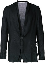 Isabel Benenato knitted back jacket - men - Linen/Flax - 48
