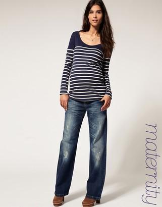 Asos MaternityExclusive Boyfriend Jeans with Internal Side Adjustable Waistband