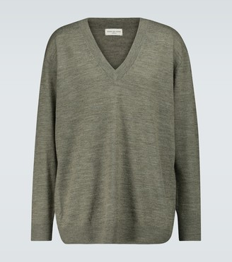 Dries Van Noten Merino wool V-neck sweater