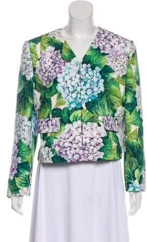 Dolce & Gabbana 2017 Hydrangea Matelassé Jacket
