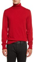 Tom Ford Classic Flat-Knit Cashmere Turtleneck Sweater, Ferrari Red