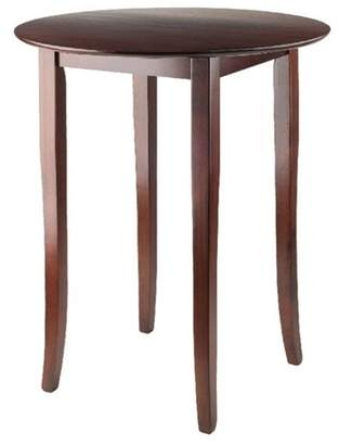 Winsome Fiona Round High/Pub Table - Antique Walnut
