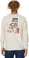 RVCA Down For Whatever Ls Mens Tee White