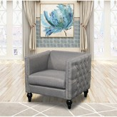 Callahan House Of Hampton Crystal Linen Armchair House of Hampton Upholstery Color: Gray