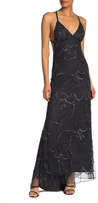 Jump Beaded Criss-Cross High/Low Gown