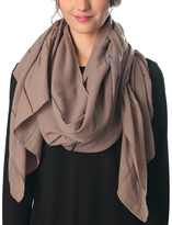 Pure Style Girlfriends Taupe Multi-Lined Scarf